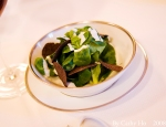 Mache salade with black truffles