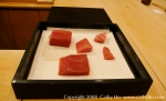 Sawada showed me these beautiful maguro toro pieces after my lunch.