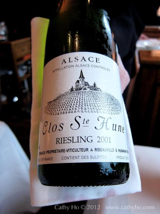Wine of the day at Taillevent